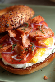 Smoked Salmon Breakfast Bagels