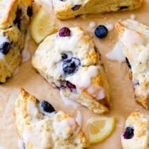 Blueberry Lemon Scones - 1 Dozen
