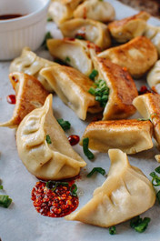 Chicken and Cilantro Dumpling Potstickers - 100 pieces per tray