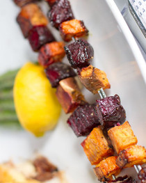 Root Vegetable Kabobs - 25 pieces per tray