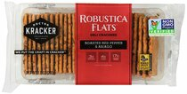 Doctor Kracker Robustica Flats Deli Crackers, Roasted Red Pepper & Asiago, 7 oz