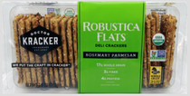 Doctor Kracker Robustica Flats Deli Crackers, Rosemary & Parmesan, 7 Ounce