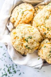 Cheddar Chive Biscuits - Gluten Free, 1 dozen