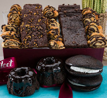 Gourmet Chocolate Lovers Brownie Ganache Bakery Collection