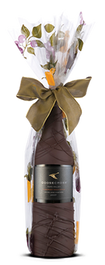 Chocolate Dipped Covered Wine or Champagne Bottle