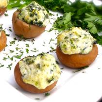 Boursin & Spinach Stuffed Mushrooms - 50 pieces per tray