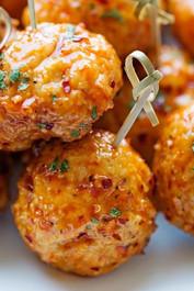 Sriracha Chicken Meatball - 40 pieces per tray