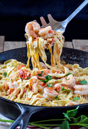 Great Low Carb Fettuccine With Creamy Shrimp Sauce