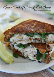 TURKEY CLUB HAVARTI GRILLED CHEESE w/ Garlic Onion Jam