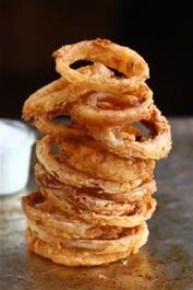 Spicy Buttermilk Vidalia Onion Rings with Buttermilk Ranch Dressing