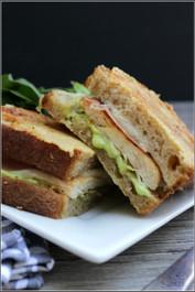 Grilled Chicken Carbonara Sandwich