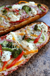 Loaded Veggie French Bread Pizza