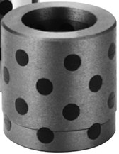 Sankyo Oilless GPBF 100 Straight Type Guide Bushing Bearing, FC250 with Graphite