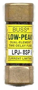 Eaton Cooper Bussmann LPJ-8SP LPJ Class J Dual Element Time Delay Fuse, 8A, 600V