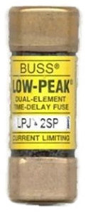 Eaton Cooper Bussmann LPJ-2SP LPJ Class J Dual Element Time Delay Fuse, 2A, 600V