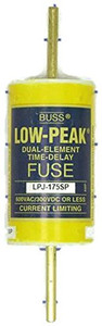 Eaton Cooper Bussmann LPJ-175SP Class J Low-Peak Fuse, 175A, Dual Element, 600V