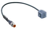 Lumberg Automation Hirschmann RST 5-3-VB 1A-1-1-226/0.6M 43805 Double-Ended Overmolded Cordset, M12, Male, Straight, 5-Pole 3-Wire to DIN Valve Connector