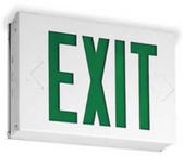 Lithonia Lighting LXW3G Steel LED Exit Sign, Single Face, 120/277 V AC, Green Letters, 204WV6