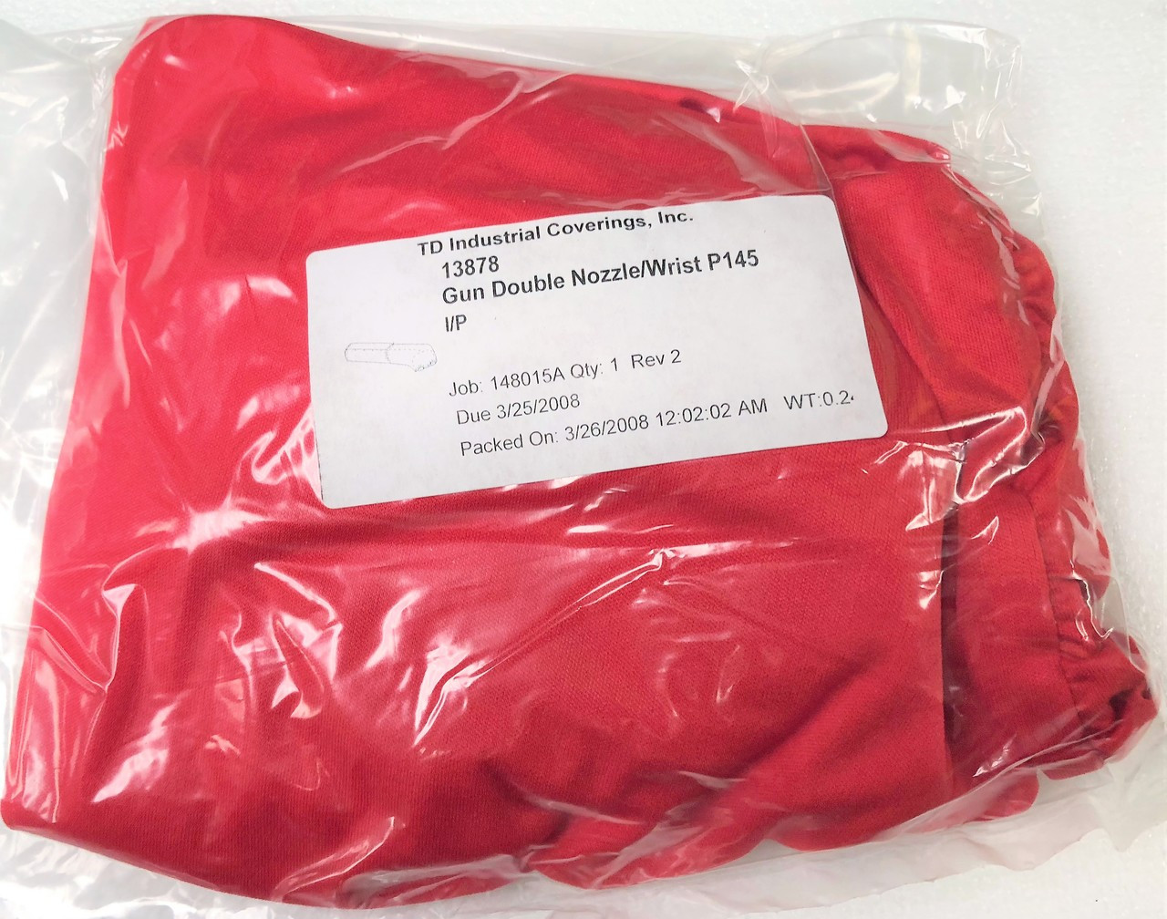 TD Industrial Coverings 13878 I/P Gun Double Nozzle Wrist Cover for Fanuc  P-145