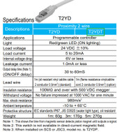 CKD T2YDT Proximity Sensor Switch, 2-Wire, Programmable Controller, LED, 24VDC