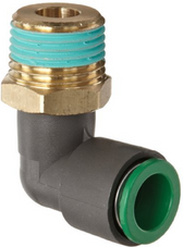 "SMC KRL06-03S KR Flame Resistant Pneumatic Fitting, Elbow, 6mm, 3/8"", Pack of 10"
