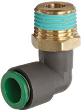 SMC KRL10-04S Pneumatic Air Fitting, Male Elbow, 10mm Tube, 1/2 Thrd, Pack of 5