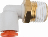 "SMC Corporation KQ2L11-37S Male Elbow Fitting, 3/8"" NPT to One-Touch, 1 Unit"