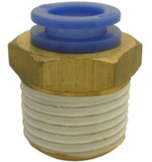 "SMC KQH04-02S KQ Air Fitting, Male Connector, 4mm Tube, 1/4"" Thread, Pack of 10"