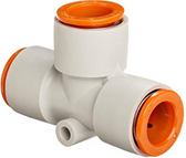 SMC KQ2T13-00 KQ2 Air Fitting, Union Tee, For 1/2 Inch Tubing, Pack of 10