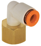 "SMC KQ2LF11-36 KQ2 Air Fitting, Female Elbow, 3/8"" Female, 3/8"" Male, Pack of 10"
