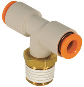 "SMC KQ2T07-36S Air Fitting, Male Branch Tee, 1/4"" Tube, 3/8"" Thread, Pack of 10"