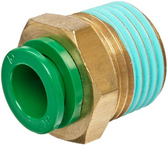 "SMC KRH08-03S KR Air Fitting, Male Connector, 8mm Tube, 3/8"" Thread, Pack of 10"