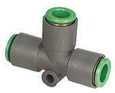SMC KRT08-00 KR Flame Resistant Air Fitting, Union Tee, 8mm Tube, Pack of 10