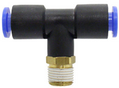 """SMC KQT06-01S KQ Air Fitting, Male Branch Tee, 6mm Tube, 1/8"""" Thread, Pack of 10"""