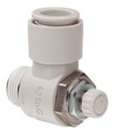 SMC AS2200F-02-04S Air Fitting, Speed Flow Control, 4mm Tube, 1/4 Thread, 1 Unit