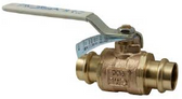 "Apollo Conbraco 77VLF-108-11 Ball Valve, 2"" Press Connections, Therma-Seal Hndle"