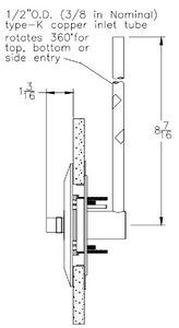 BeaconMedaes 6-233113-00 Rough In Assembly for Concealed Wall Outlet VAC Service