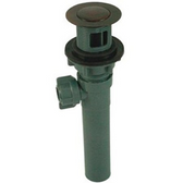 Empire Brass Co 251 Lavatory Drain, Plastic Pop-Up With CP, Flange Less Overflow