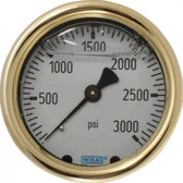 Wika 9314776 Hydraulic Pressure Gauge, 3000 psi, 4 in Face, Lower Mount (LM)