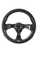 ST-001CFL - 320mm Sport Leather Steering Wheel with Carbon Fiber Look Inserts