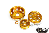 ISIS PERFORMANCE LIGHT WEIGHT PULLEY KIT - GOLD - NISSAN SR20DET S13