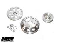 ISIS PERFORMANCE LIGHTWEIGHT PULLEYS - NISSAN SR20DET S13 - SILVER