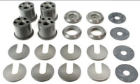 Voodoo13 Adjustable Aluminum S14 Subframe Conversion Bushings for Nissan 240sx '89-'94
