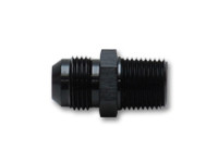 """Vibrant Straight Adapter Fitting; Size: -10AN x 1/2"""" NPT"""