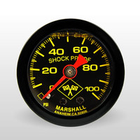 Marshall Liquid filled Fuel Pressure Gauge 0-100 PSI
