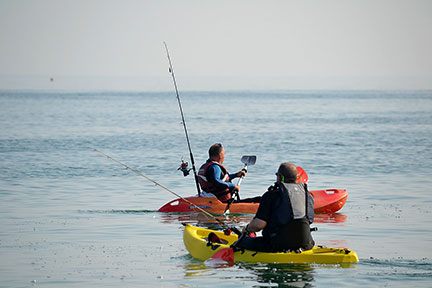 Kayak Fishing with Rod Holders