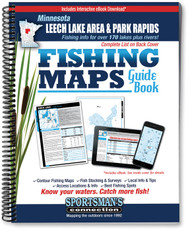 Northern Minnesota Leech Lake Area & Park Rapids Area Fishing Map Guide cover - includes contour lake maps and fishing information for over 180 lakes and rivers
