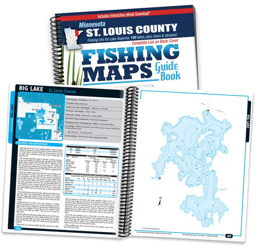 Northern Minnesota St. Louis County Fishing Map Guide cover and page spread