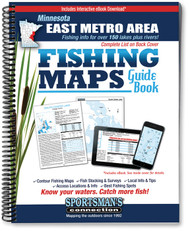 East Metro Area Minnesota Fishing Map Guide - includes contour lake maps and fishing information for over 150 lakes