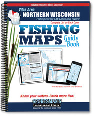 Vilas Area Wisconsin Fishing Map Guide - includes contour lake maps and fishing information for over 180 lakes